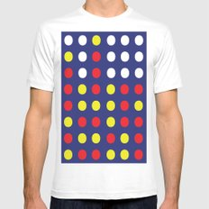 Connect 4. MEDIUM White Mens Fitted Tee