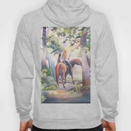Quiet Woodland Horse Ride Hoody