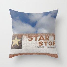 Star Mine Store Drumheller Throw Pillow