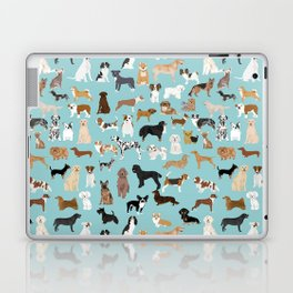 Dogs pattern print must have gifts for dog person mint dog breeds Laptop & iPad Skin