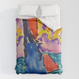 "Paul Signac ""Coucher de soleil"" Comforters"