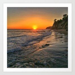 Sundown Santa Barbara Art Print