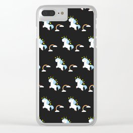 Unicorn Pattern Clear iPhone Case