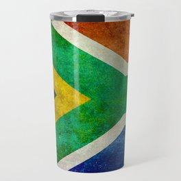 "Flag of South Africa - retro style ""Banner"" version Travel Mug"