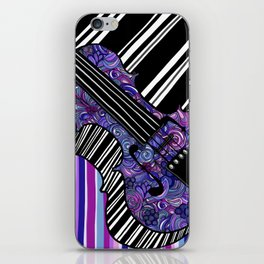 Study in the key of Purple - cello iPhone Skin