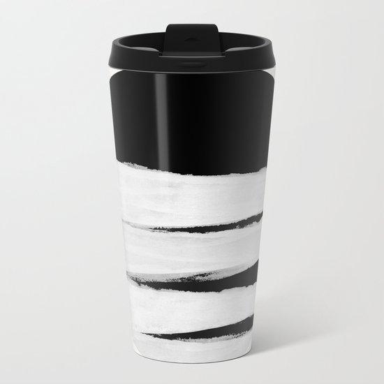 White Space Metal Travel Mug
