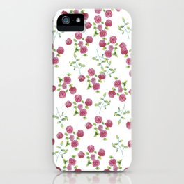 Watercolor roses on white backgroung iPhone Case
