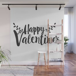 Hand Lettering Happy Valentines Wall Mural