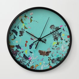 Turquoise Spiral Wall Clock