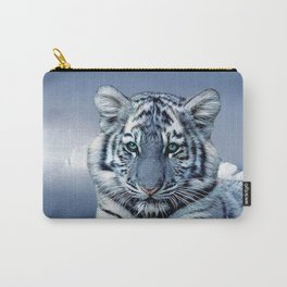 Blue White Tiger Carry-All Pouch