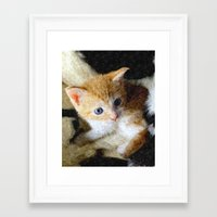 kitten Framed Art Prints featuring Kitten  by Christine baessler