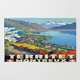 Vintage poster - Territet Montreaux Rug