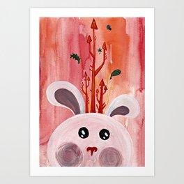 Cute Bunny Portrait Art Print
