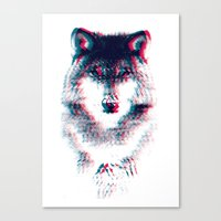 wolf Canvas Prints featuring Act like a wolf.  by Mason Denaro