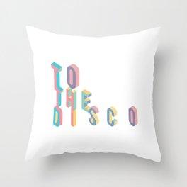 Disco T-Shirt - Vintage Style Disco Shirt Throw Pillow
