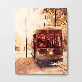 St Charles Street Car - New Orleans Metal Print