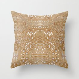 Metallic Snake Throw Pillow