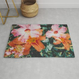 hibiscus lilly | double exposure Rug