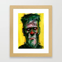 Frankensteins Monster is tired Framed Art Print