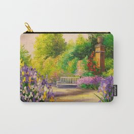 In the garden of irises bloom Carry-All Pouch