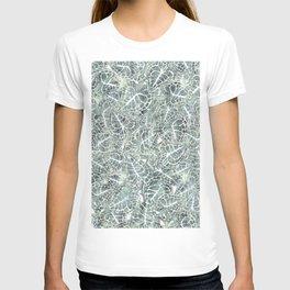 Tonal Leaves Print T-shirt
