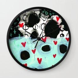 Falling Hearts Wall Clock