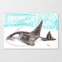Orca Baby Canvas Print