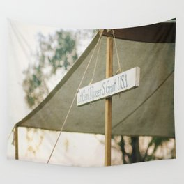 Vintage Civil War Sign Ulysses Grant Wall Tapestry