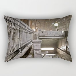 Wall Street - Snow - New York Photography  Rectangular Pillow