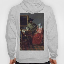 """Johannes Vermeer """"A Lady Drinking and a Gentleman"""" Hoody"""