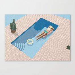 2 COOL 4 POOL Canvas Print
