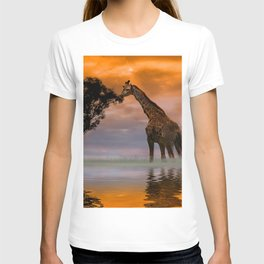 Giraffe at Sunset T-shirt