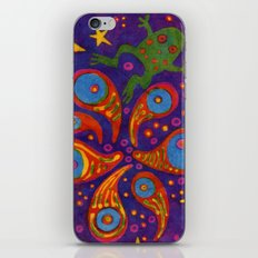 Space Frog batik iPhone & iPod Skin