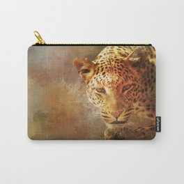 Spotted Leopard Carry-All Pouch
