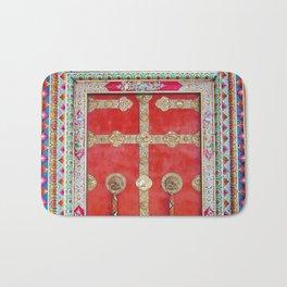 Colorful Handpainted Tibetan Buddhist Monastery Door Bath Mat