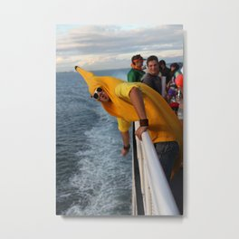 The Happy Banana Man Metal Print