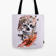 Skull, Flower, crow, honey bird and butterfly iPhone 4 4s 5 5s 5c, pillow case and tshirt Tote Bag