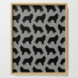 Belgian Sheepdog Silhouette Serving Tray