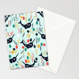 Cute Narwhal Stationery Cards