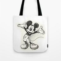 mickey Tote Bags featuring Mickey Mouse by Herself