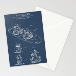 Wakeboard blueprints Stationery Cards