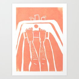 Not having to shave my legs Art Print