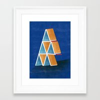 house of cards Framed Art Prints featuring house of cards by Robert Deutsch