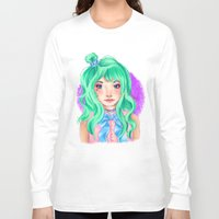 mint Long Sleeve T-shirts featuring Mint by Hetty's Art