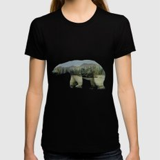 The Polar Bear SMALL Black Womens Fitted Tee