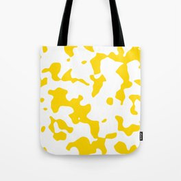 Large Spots - White and Gold Yellow Tote Bag