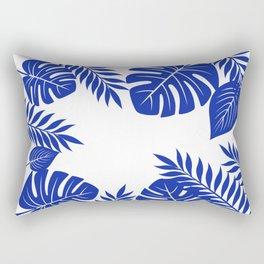 Paradise in cobalt Rectangular Pillow