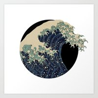 The Great Wave With More Wave Art Print