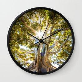 Tree Paradise (Color) Wall Clock