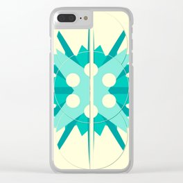 Yellow and blue the ocean and the sun Clear iPhone Case